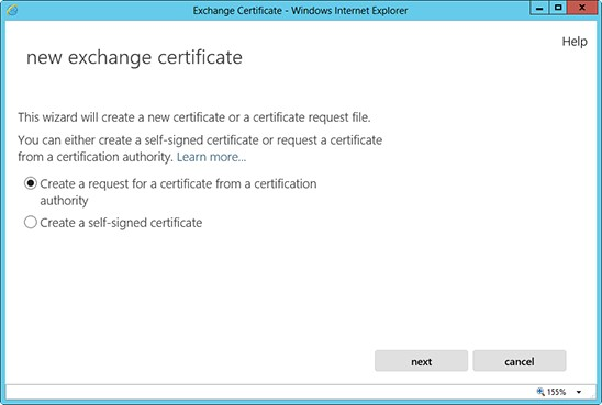 exchange certificate